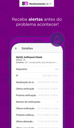 Alertas automáticos disparados pelo aplicativo mobile do SM